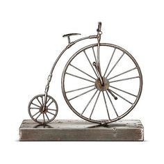 Bicycle Figurine - The Industrial Shop, Multi-Colored ($21) ❤ liked on Polyvore featuring home, home decor, bicycle home decor, target tray, colorful trays, rectangle tray and industrial home decor
