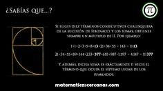 ¿Sabías que…? sobre la sucesión de Fibonacci | matematicascercanas