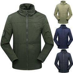 Mens Outdoor Activity Sports Waterproof Windproof Fleece Warm Jacket