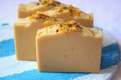 CP handmade soap with marygold olive oil infuse