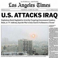 newspaper headline War with Iraq - Google Search