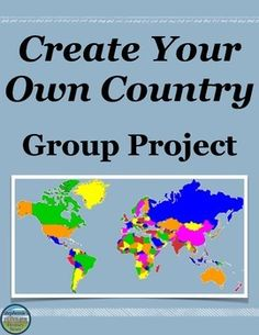 This group project has students creatively create a country from scratch while incorporating academic information learned during the year. There are 15 items the students must address to varying degrees of depth (all detailed in the handout). 6th Grade Social Studies, Social Studies Classroom, History Classroom, Teaching Social Studies, History Teachers, Teaching Resources, Teaching Ideas, Ap Human Geography, Teaching Geography