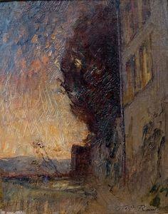 François-Auguste Ravier (1814 - 1895), L'escalier de la maison du peintre