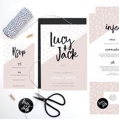 Lucy wedding stationery by whiteknot.co.uk