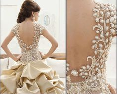 Not lace but gorgeous back