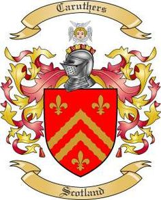 Caruthers coat of arms / family crest from Scotland..