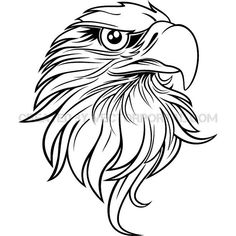 Incredible simple design of an eagle's head. Eagle Head Tattoo, Eagle Tattoos, Head Tattoos, Feather Tattoos, Eagle Outline, Eagle Art, Bird Outline, Wood Burning Patterns, Wood Burning Art