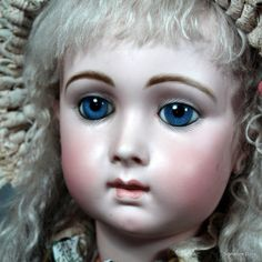 French Bisque Bebe Triste by Emile Jumeau, Size 14