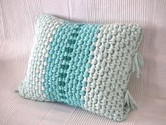 Crochet Pillow Cover Decorative Cushion by LoopingHome on Etsy