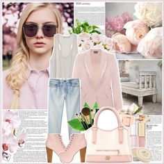 """""""Just Pink."""" by lilyell on Polyvore"""