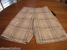Men's O'Neill walk casual shorts 28 white first in last out NEW surf skate NEW