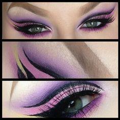 Disney themed show: Malificent makeup idea