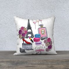 Paris pillow cover Paris décor Chanel by theprettypinkstudio
