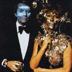 Claude Lebon and Charlotte Aillaud. On 12 December 1972, Marie-Hélène Rothschild's Surrealist Ball at Ferriéres.