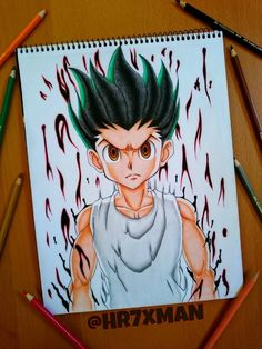 Gon Freecs Drawing by on DeviantArt Hunter Anime, Hunter X Hunter, Manga Anime, Anime Art, Art Sketches, Art Drawings, Arte Grunge, Dark Anime Guys, Cute Anime Pics