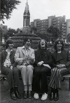 beatles. black-and-white