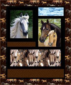 Horse Sense Quilt Pattern HHQ-7380 (advanced beginner, lap and throw)