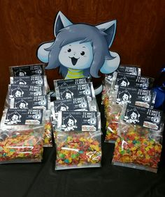 Undertale Temmie and Temmie Flakes favor bags