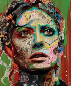 Mixed media collage portraits arnaud bauville like how the original images Face Collage, Collage Portrait, Collage Art, Portrait Sculpture, Sculpture Art, Mixed Media Faces, Mixed Media Collage, Pop Art, Modern Art Movements