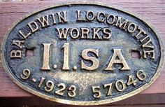 This build plate Nº 57046, from a slightly newer I1sa is a PRR recast for when the engine was upgraded to I1sa.