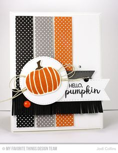 card halloween pumpkin spooky booh trick or treat card from Jodi Collins featuring Mini Fringe Die-namics Fall Cards, Holiday Cards, Valentine Cards, Christmas Cards, Valentines, Pumpkin Cards, Paper Pumpkin, Making Greeting Cards, Stamping Up Cards