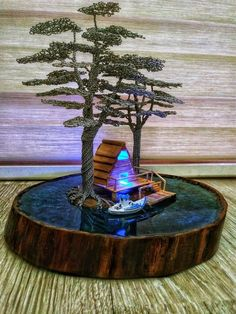 Items similar to Wire Tree Art Handmade, gift, dream house lake;A bonsai tree made of wire will perfectly decorate your home interior on Etsy Wire Tree Sculpture, Book Sculpture, Miniature Crafts, Miniature Fairy Gardens, Wire Crafts, Diy Home Crafts, Fairy House Crafts, Copper Wire Art, Seed Bead Art