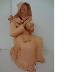 Escultura em Cerâmica - São Francisco                                                                                                                                                                                 Mais