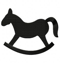 Free Rocking Horse Silhouette Embroidery Design, Free Download Available Only For August 31st at: www.embroideryocean.com
