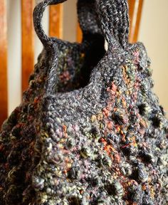 Sophie Digard / wool handbag macrame (S047/54/SS/SMOULDER/GO) ソフィー・ディガー バック