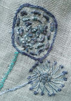 Very nice bit of hand stitching on this linen wrap from Sophie Digard