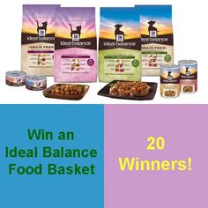Win an Ideal Balance Food Basket for your cat or dog. 20 Winners! #IdealBalance  #HillsPet  #giveaway #cats  #dogs
