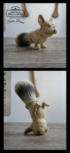 French Bulldog Shave Brush