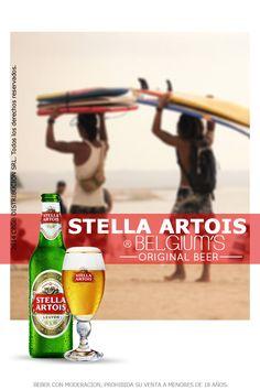 """Stella Artois. Es una cerveza lager de 5,2% grados de alcohol, elaborada inicialmente en Lovaina, Bélgica en el año de 1361 como una cerveza para consumirla en Navidad, de ahí el nombre de Stella, en latín """"estrella"""", por la estrella de Belén. Con notas de malta y el acabado fresco que develan el sabor agradablemente amargo de Stella Artois."""