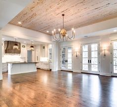 The perfect open floor plan: with French doors to the backyard. - dezdemon-home-decorideas.space The perfect open floor plan: with French doors to the backyard…. Br House, House Bath, Tiny House, Design Case, House Goals, Living Room Kitchen, Condo Kitchen, Dining Rooms, Dining Table