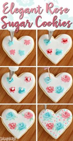 Valentine's Day Sugar Cookies - classic sugar cookies decorated with royal icing in a variety of gorgeous Valentine's Day designs   From SugarHero.com