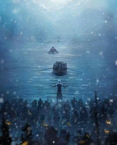 Game of Thrones :: Hardhome :: Jon Snow :: Love have the have the giant beating the boat