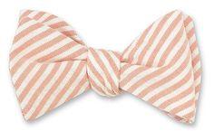 Orange Vintage Seersucker Bow Ties