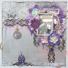 True, Scrapbook page by Gabrielle Pollacco