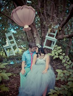 Alice themed photo shoot    If I ever get married, engagement photos are totally going to be Alice in Wonderland themed :)