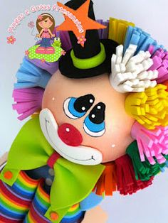 fofucho payaso Circus Characters, Clown Party, Send In The Clowns, Christmas Embroidery, General Crafts, Doll Crafts, Holidays And Events, Easter Bunny, Crafts For Kids
