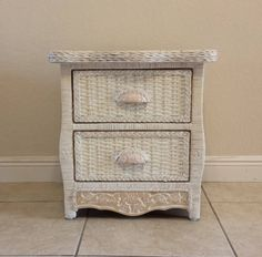 Pier 1 wicker dresser white cottage jamaica imports one - Pier one white wicker bedroom furniture ...