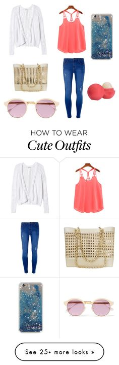 """""""Cute Summer Outfit"""" by lsantana13 on Polyvore featuring Rebecca Taylor, Dorothy Perkins, Chanel, Sheriff&Cherry and Eos"""