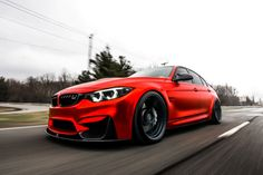 2015 Satin Red Chrome BMW sitting on Brixton Forged Duo Series in Gloss Lemans Grey Media By: Owner: www. 2015 Bmw M3, Bmw Red, Bmw M5 E60, Cars Vintage, Bmw Design, F80 M3, Bmw M Power, Bmw Love, Sports Sedan