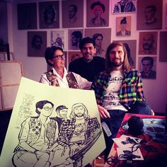 Yue Wu has taken overLe Salon (Atelier Galerie) and has been drawing people for two weeks!I really wish I was in Paris for this!If you are, here's the Facebook Event. It wraps up in two days but you might still be able to book a session!  Yue's drawn some famous faces, Busy P, Breakbot – take a look below! PS I stole all these images from his Instagram, follow him@wuyue5.