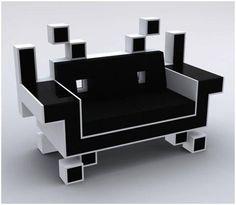 Canapé Space Invader très rigolo !