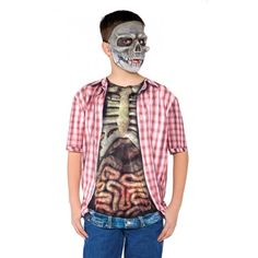 Skeleton Guts Photo Real Shirt Child Costume