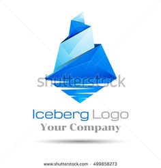Vector blue iceberg. Brand sign Colorful Vector 3d Volume Logo Design Corporate identity