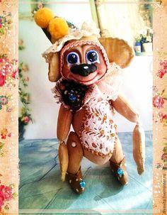 Игрушки животные, ручной работы. Ярмарка Мастеров - ручная работа. Купить обезьянка АРТИСТ. Handmade. Бежевый, символ 2016 года