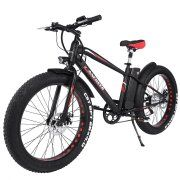 cc41f8e2ffa ANCHEER Adult Electric Mountain Bike Fat Tire E Bike 26 Inch Beach Snow  Bicycles with 300W Brushless Motor and 36V 10AH Lithium Battery 6 Shimano  Speeds