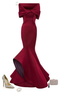 """""""Red carpet ready"""" by julietajj on Polyvore featuring Jimmy Choo, Zac Posen, Bloomingdale's, Balenciaga, Jacques Vert and NARS Cosmetics"""